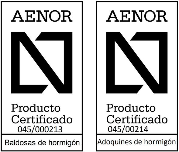 Productos certificados por AENOR
